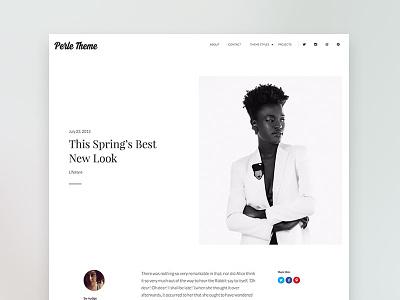 Perle WordPress Theme minimal fashion ui wordpress web design theme
