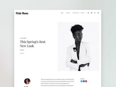 Perle WordPress Theme