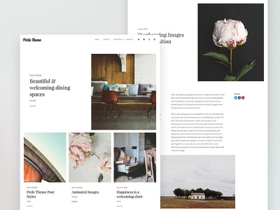 Perle Theme ui design layout blog web design theme wordpress