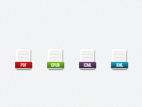 Ebook File Icons