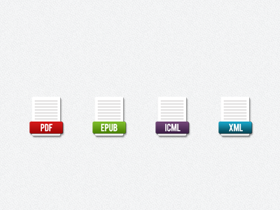 Ebook File Icons ebook icons