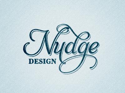 Nudge Design - New Logo logo typography vintage script