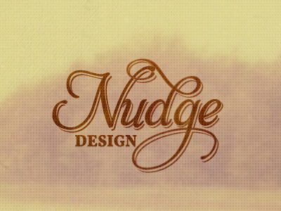 Nudge Design Logo logo retro script typography