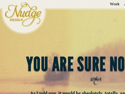 New Nudge Design homepage header retro texture website header