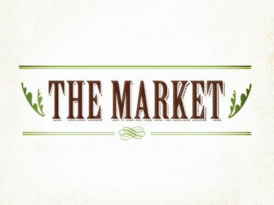The Market dirt vintage logo green