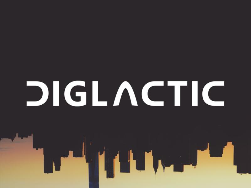 Diglactic Logo Prototype #1 diglactic new york logo vector branding typography concept brand adobe xd