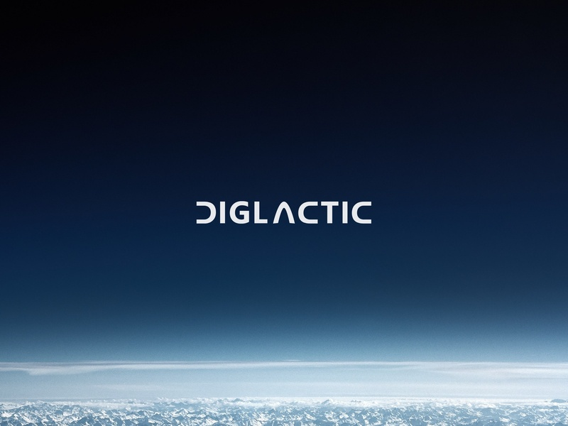 Diglactic Logo Prototype #2 adobe xd diglactic space branding