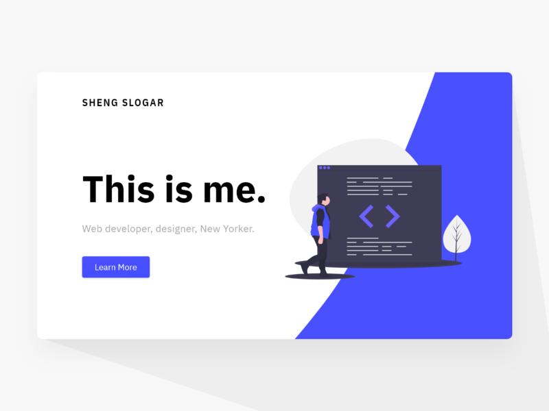 Personal Website Redesign website concept website design branding design adobe xd