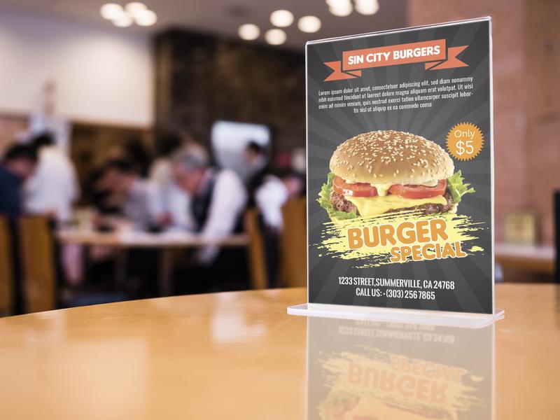 Burger Shop Flyer modern flyer corporate branding resturant flyer flyer burger flyer
