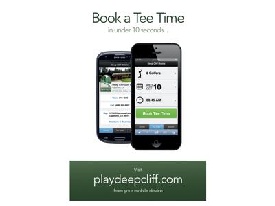 PressTee Golf Reservation App  uxui web design graphic design mobile golf