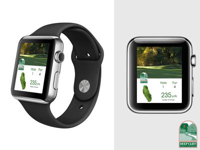 Deep Cliff Golf Course GPS iWatch Concept  uxui iwatch graphic design golf
