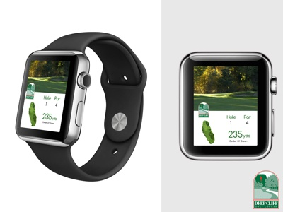 Deep Cliff Golf Course GPS iWatch Concept  uxui iwatch graphic design golf