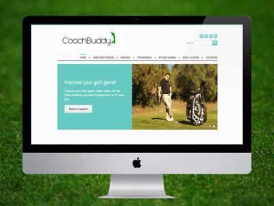 CoachBuddy Golf uxui web design graphic design golf