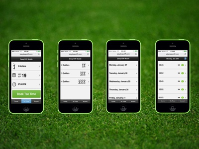 PressTee Golf Reservation App  uxui web design graphic design mobile golf
