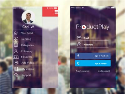 ProductPlay App Concept uxui web design graphic design mobile