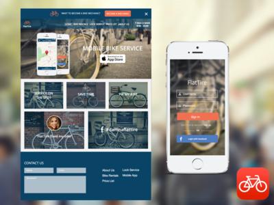 Flattire - Concept bikes sketch ux ui web mobile invision