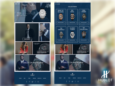 Hublot - Concept Design bloc sketch invision web mobile ux ui