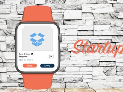 Startupvids iWatch Concept ui ux sketch design mobile iwatch designer photoshop startup
