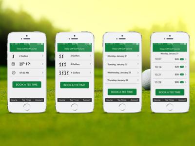 Golf Mobile Booking App design prototyping illustrator photoshop booking golf mobile sketch 3 sketch visual design ui ux