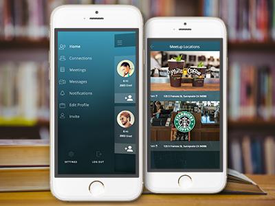 Alumnify Sneak Peak product design visual design ux sketch mobile ui
