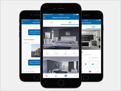 Real Estate App user interface product design ios visual ux ui mobile