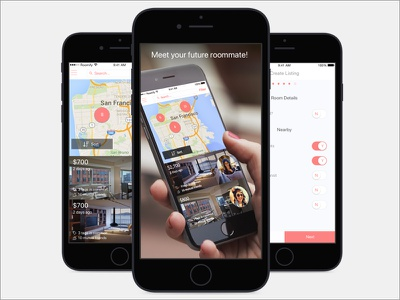 Roomify ios visual ux ui mobile