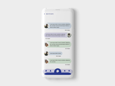 Chat App Animation ux designer ui designer project photoshop creative chat animation app design app mobile ux design ui design adobexd ux ui freelance designer freelance design