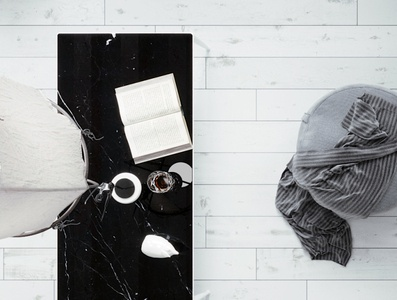 """""""Nero marquina"""" table - Quartz promotion by Archistone surface elevation elements stairs countertop granite koszalin promotion branding quartz marble 3ds max interior modern new"""