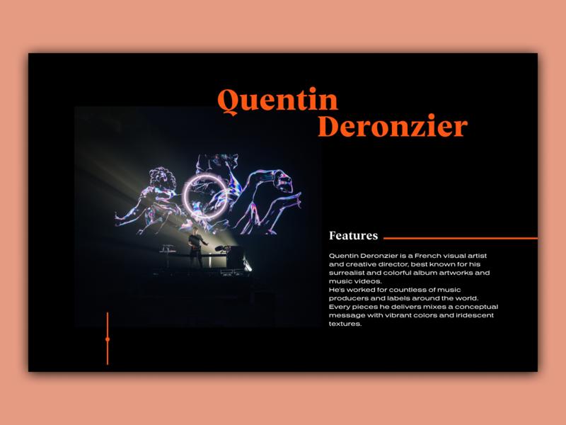 Quentin Deronzier - Homepage Concept