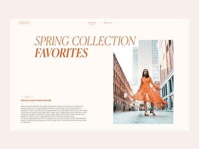 MadMod - Spring Collection Article design website ui concept design website design