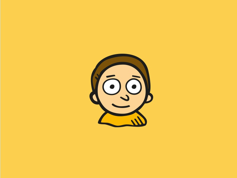 Rick & Morty - Morty freebie space icons icon hand drawn rick and morty
