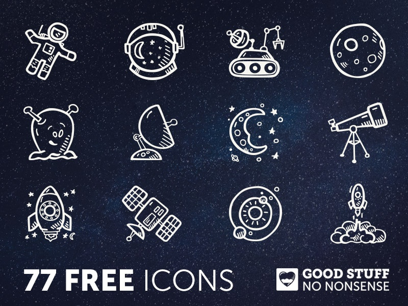77 FREE Space Icons - Hand Drawn sketch doodle hand drawn rick and morty star wars space icons icon free icons freebie