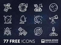 77 FREE Space Icons - Hand Drawn