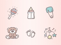 Baby Shower Icons - Cute Attack