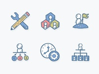 Business Icons - Teams And Time Managment