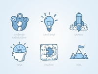 Ideas And Goals - Business Icons