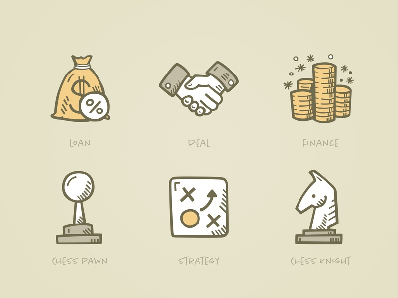 Finance And Strategy chess strategy finance business clip art tiny art icon illustration clipart icon design icons doodle hand drawn