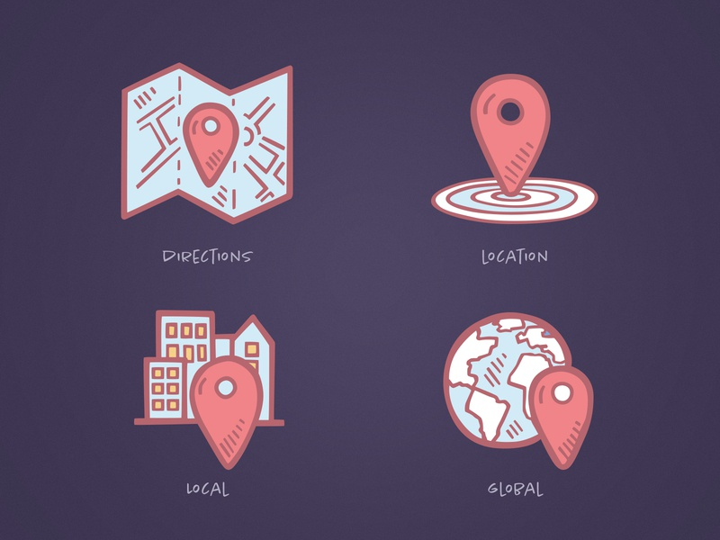 Business Icons - Location map pins map pin location tinyart illustration tiny art drawing icon clipart icon design icons doodle hand drawn