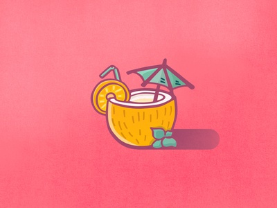 Coconut Drink - Summer Icons