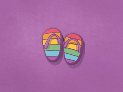 Pride - Flip Flops flip flops summer pride illustration tinyart clipart icon design icons doodle hand drawn