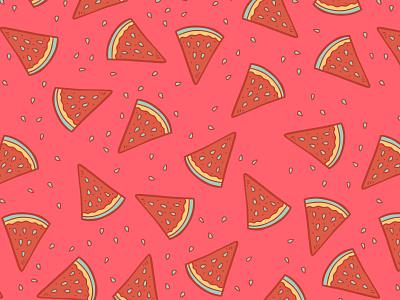 Watermelon Pattern doodle fabric pillow pattern watermelon
