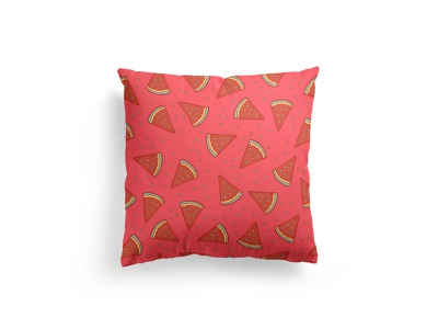 Watermelon Pattern doodle fabric pillow pattern watermelon