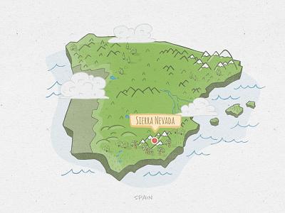 Spain - Hand Drawn Map illustration art doodleart doodle spain map illustration hand drawn