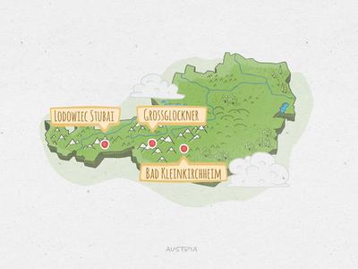 Austria - Hand Drawn Map