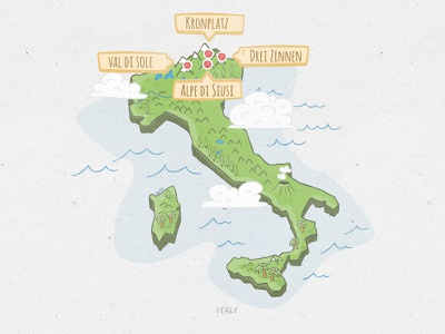 Italy - Hand Drawn Map doodleart italy map illustration doodle hand drawn