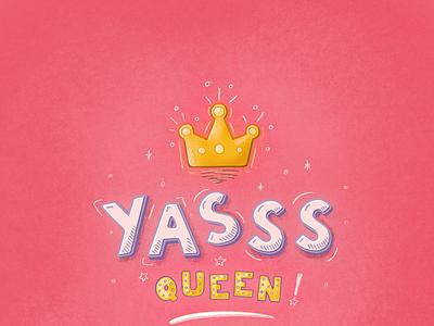 Yasss Queen! icon set icon design icon procreate svg font handlettering hand drawn illustraion