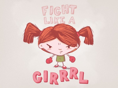 Fight Like A Girl girl fight feminism vector art vector illustration