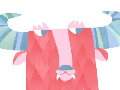 Monster monster sorryyourehappy pink kid art horns