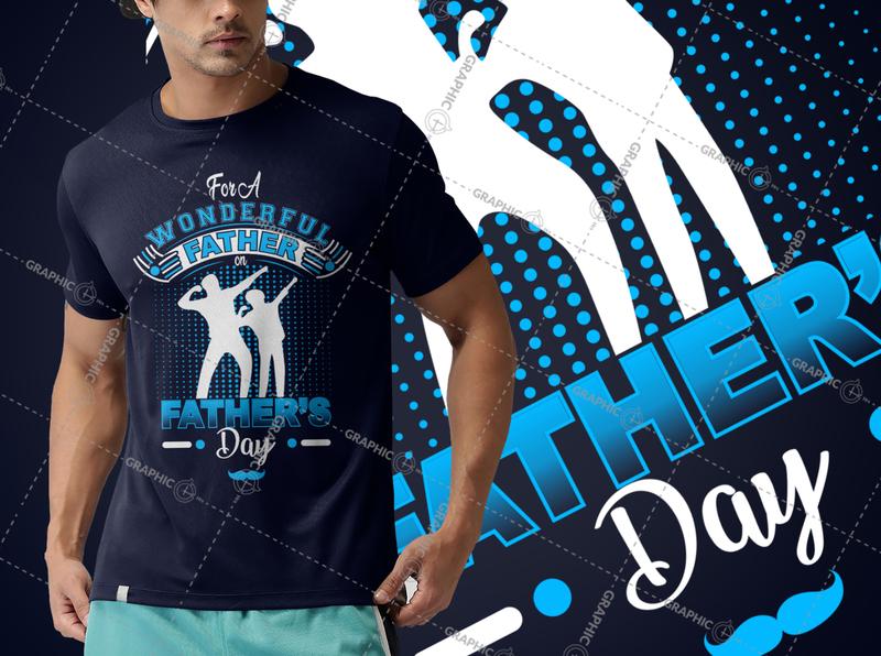 Happy Father's Day Custom Typography Vector T-Shirt Design summer design logo design typography logodesign vintage design t-shirt design tshirtdesign illustration funny tshirt