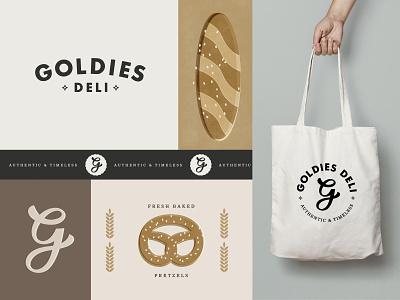 Goldies Deli logo logo design logotype logomark deli food logo